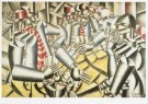 Fernand Leger (1881-1955)  -  Kaartspelende soldaten - Soldiers playing at cards - Postkaart -  A7671-1