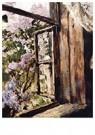 V.Serov (1865-1911)  -  Open Window (study), 1886 - Postkaart -  A77029-1