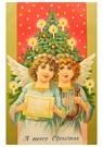A.N.B.  -  Twee kerstengelen voor een kerstboom - Postkaart -  A77397-1