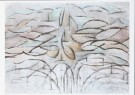 Mondriaan (1872-1944)Mondrian  -  Bloeiende appelboom, 1912 - Postkaart -  A7760-1