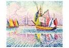 Paul Signac (1863-1935)  -  Boats at Anchor in Locmalo, 1922 - Postkaart -  A78046-1