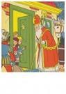 Anonymus  -  Sinterklaas en zwarte piet voor de deur - Postkaart -  A78296-1