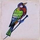 Anoniem  -  Spijkertegel met vogel. - Postkaart -  A7859-1