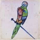 Anoniem  -  Spijkertegel met vogel. - Postkaart -  A7860-1