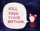 Yoshitomo Nara (1959)  -  Kill your Timid Notion - Postkaart -  A7865-1