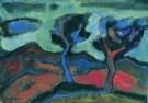 Jaap Min (1914-1987)  -  Twee bomen in het duin - Postkaart -  A7879-1