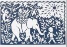 Eddy Varekamp (1949)  -  Olifant met kind - Postkaart -  A8037-1