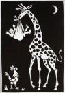 Eddy Varekamp (1949)  -  Giraffe met kind en haan - Postkaart -  A8039-1
