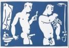 Eddy Varekamp (1949)  -  2 heren ,badkamer - Postkaart -  A8041-1