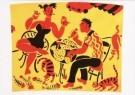 Eddy Varekamp (1949)  -  E. Varekamp/heer/dame/3 poezen - Postkaart -  A8047-1