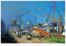 Herman Heijenbrock (1871-1948) -  Havengezicht bananenboot - Postkaart -  A8102-1