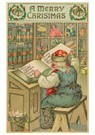 Anonymus  -  Kerstman leest de kindernamen in zijn boek - Postkaart -  A81044-1
