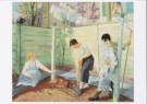 John Sloan (1871-1951)  -  J.Sloan/Spring Planting - Postkaart -  A8141-1