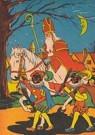 A.N.B. - Sinterklaas met zwarte pieten op pad - Postkaart - A81669-1