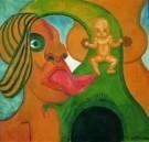 Henry Heerup (1907-1993)  -  Rode mond uitgestoken tong - Postkaart -  A8169-1