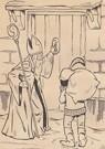 A.N.B.  -  Sinterklaas en zwarte piet staan voor de deur - Postkaart -  A81741-1