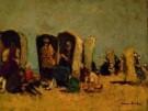 German Grobe (1857-1938)  -  strandstoelen, Katwijk - Postkaart -  A8196-1