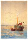 W.J. Schutz (1854-1933)  -  Morgen Oosterschelde / Zeeuws Museum - Postkaart -  A8205-1