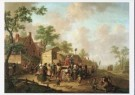 Hendrik Willem Schweickhardt  -  Dorpsscene met kwakzalver, 1782 - Postkaart -  A8212-1