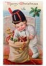 Anonymus  -  Jongen zoekt naar kerstcadeaus in de zak - Postkaart -  A82495-1