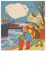 A.N.B.  -  Sinterklaas en zwarte piet komen aan - Postkaart -  A83054-1