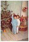 Anonymus  -  Twee kinderen voor een kerstboom - Postkaart -  A83149-1