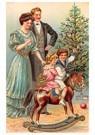 Anonymus  -  Gezin viert kerst voor de kerstboom - Postkaart -  A83978-1