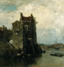 Jacob Maris (1837-1899)  -  Oud Dordrecht - Postkaart -  A8417-1