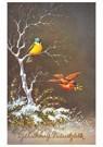 A.N.B.  -  Twee vogels in een winterlandschap (Gelukkig Nieuwjaar) - Postkaart -  A84290-1