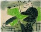 Constant Nieuwenhuys 1920-2005 -  Moeder met kind - Postkaart -  A8469-1