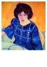 Jan Sluijters (1881-1957)  -  Portret Greet in - Postkaart -  A8636-1