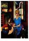 Jan Sluijters (1881-1957)  -  Portret Anna Leyd - Postkaart -  A8642-1
