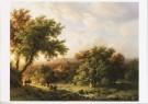 M.A. Koekkoek (1873-1944)  -  B. C. Koekkoek/Landschap eiken - Postkaart -  A8656-1