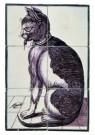Delft  -  Tegeltableau met kat en muizen - Postkaart -  A8664-1