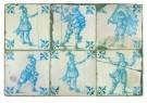 Delft  -  Tegels met vijf piekeniers - Postkaart -  A8697-1