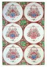 Delft  -  Zes tegels met bloemen in mand - Postkaart -  A8700-1