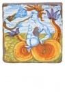 Delft  -  Tegel met triton blazend op sl - Postkaart -  A8701-1