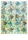 Delft  -  Tegelveld met Romeins en Turks - Postkaart -  A8702-1