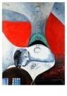 Pablo Picasso (1881-1973)  -  Femme sous la lampe - Postkaart -  A8719-1