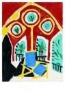 Pablo Picasso (1881-1973)  -  La fenOtre de l'ate - Postkaart -  A8731-1