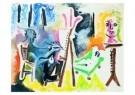 Pablo Picasso (1881-1973)  -  Le peintre et son m - Postkaart -  A8737-1