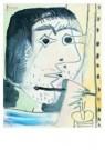 Pablo Picasso (1881-1973)  -  Le peintre, tOte - Postkaart -  A8738-1