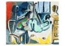 Pablo Picasso (1881-1973)  -  Le peintre et son m - Postkaart -  A8739-1