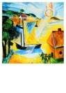 Max Pechstein (1881-1955)  -  Landschap opgaand - Postkaart -  A8756-1