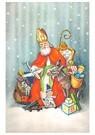 A.N.B.  -  Sinterklaas met cadeaus in de sneeuw - Postkaart -  A87904-1