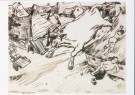 Henk Melgers (1899-1973)  -  De stier is los!, ca. 1950 - Postkaart -  A8859-1