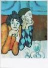 Pablo Picasso (1881-1973)  -  Harlequin en zijn metgezel, 1901 - Postkaart -  A8877-1