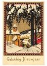 A.N.B.  -  Winterlandschap: straatje met huizen en een kerk - Postkaart -  A88815-1