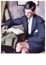 -  Boy Reading, circa 1920-1923 - Postkaart -  A88864-1