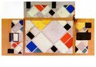 Theo van Doesburg (1883-1931)  -  Color design for walls and ceiling of the Ciné-dancing in th - Postkaart -  A89469-1